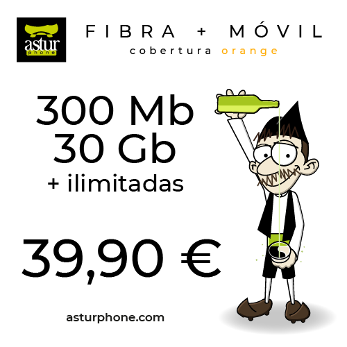 INTERNET 300 MB + MOVIL 30 GB CON ILIMITADAS