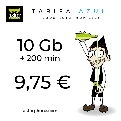 Tarifa Azul 10 GB + 200 Min.