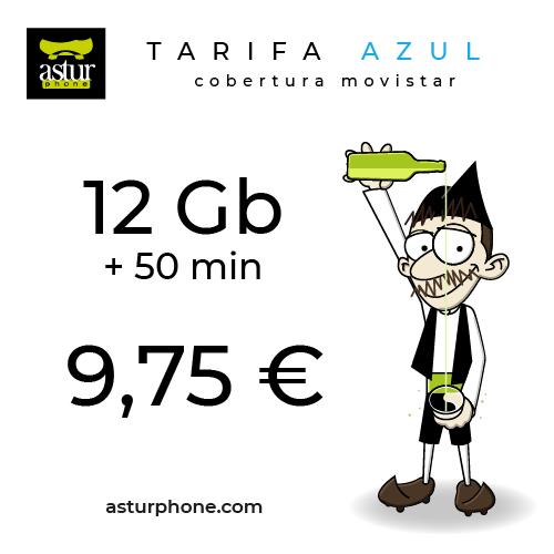 Tarifa Azul 12 GB + 50 MIN.