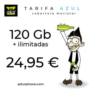 Tarifa Azul 120 GB + ilimitadas