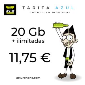 Tarifa Azul 20 GB + ilimitadas