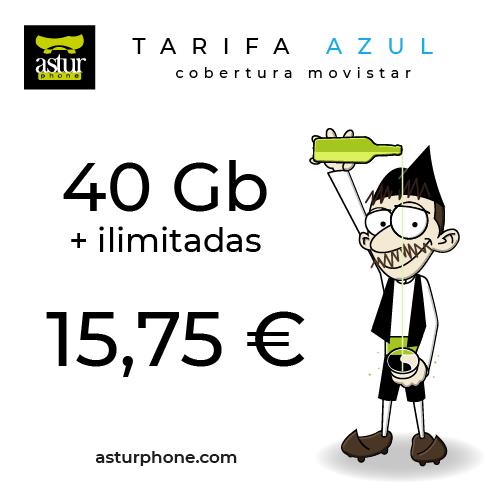 Tarifa Azul 40 GB + ilimitadas
