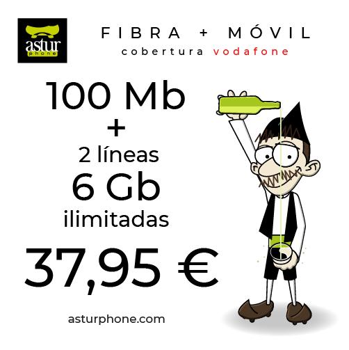FIBRA 100 + 2 X 6 GB E ILIMITADAS