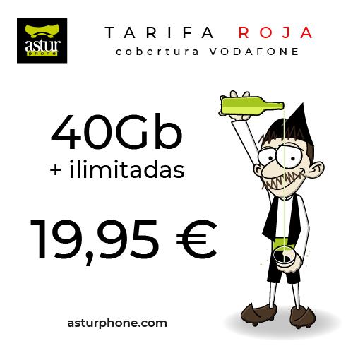 TARIFA ROJA 40 GB + ILIMITADAS